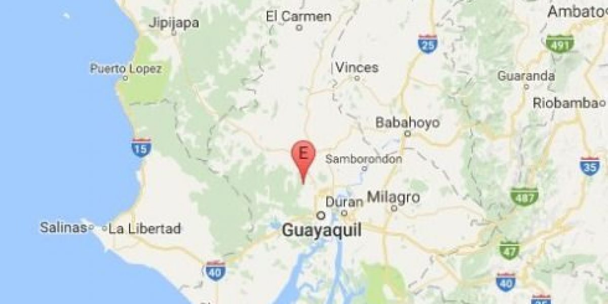 Sismo de 4.1 se registró esta madrugada en Guayas