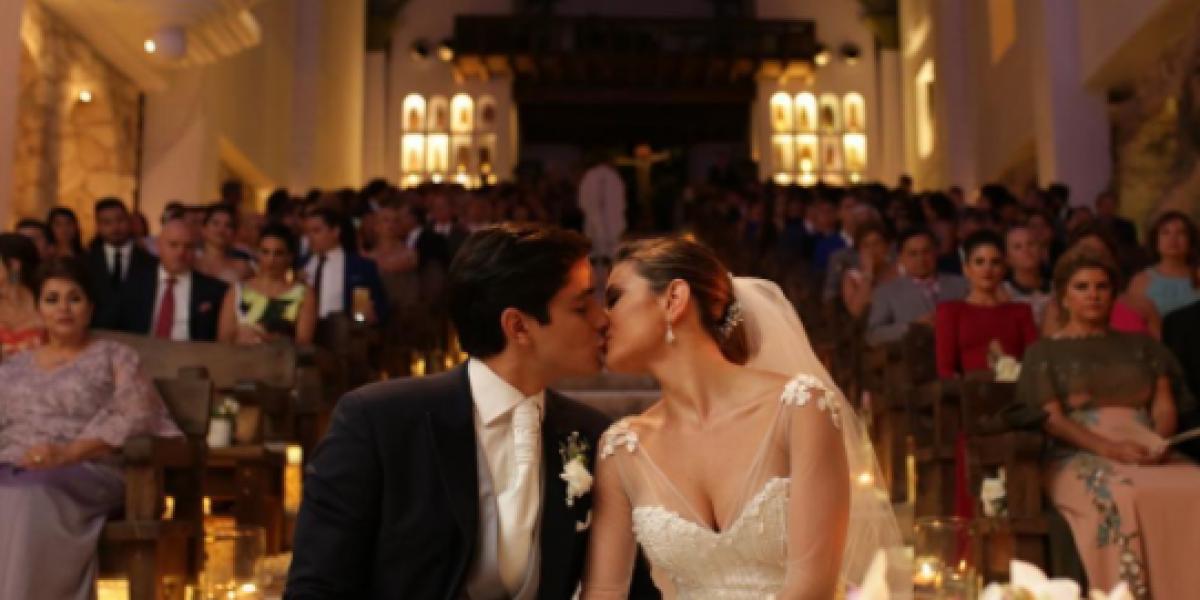 La boda eclesiástica de Constanza Báez