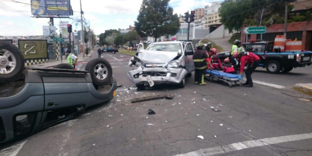 Reportan varios accidentes de tránsito en Quito