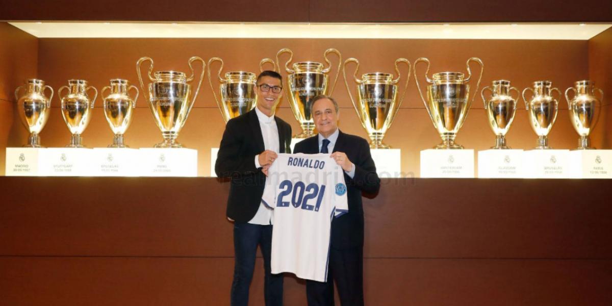 Cristiano Ronaldo ya firmó su extensión hasta el 2021