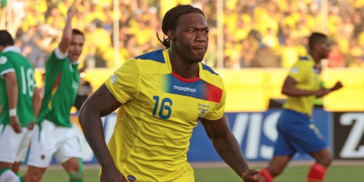 Felipe Caicedo ya se integró a la Selección de Ecuador en Uruguay