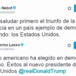 Lassso y Nebot saludan a Trump