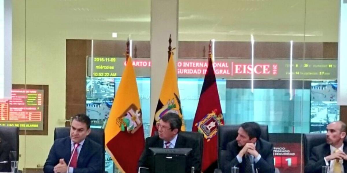 Expertos internacionales analizaron temas de seguridad integral en Ecuador