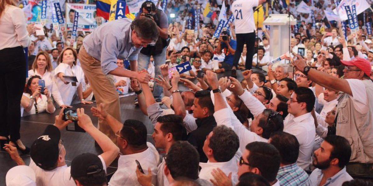Lasso y Paéz inscribieron su binomio para las elecciones 2017 en el CNE