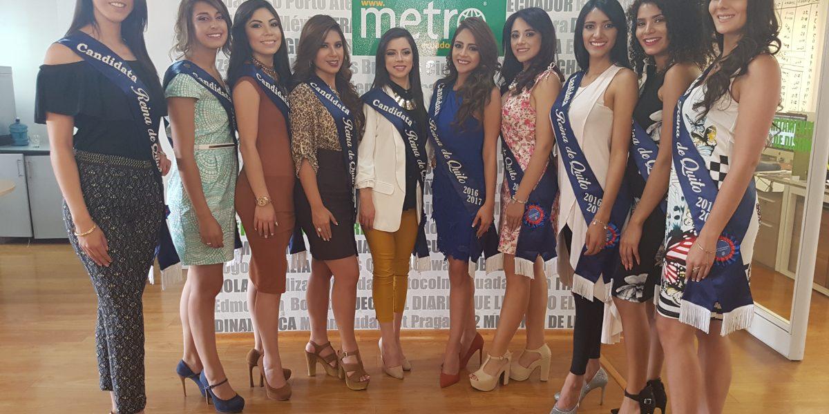 El Metro se llenó de belleza con las candidatas a Reina de Quito 2016-2017