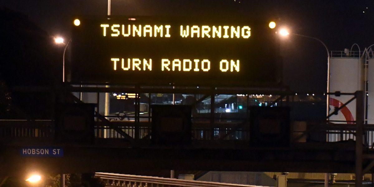 Al menos dos muertos dejó el tsunami en Nueva Zelanda