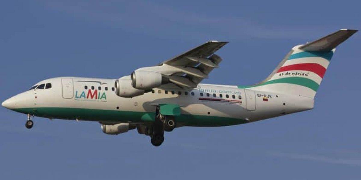 Avión del Chapecoense se habría quedado sin combustible