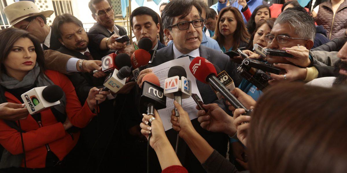 César Montúfar y Lenín Hurtado piden a Fiscalía indagar acusaciones a Jorge Glas