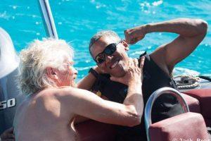 Obama se enfrenta a Richard Branson en competencia de Kitesurf