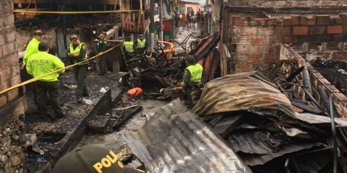 Mueren tres niños en un incendio en el centro de Colombia