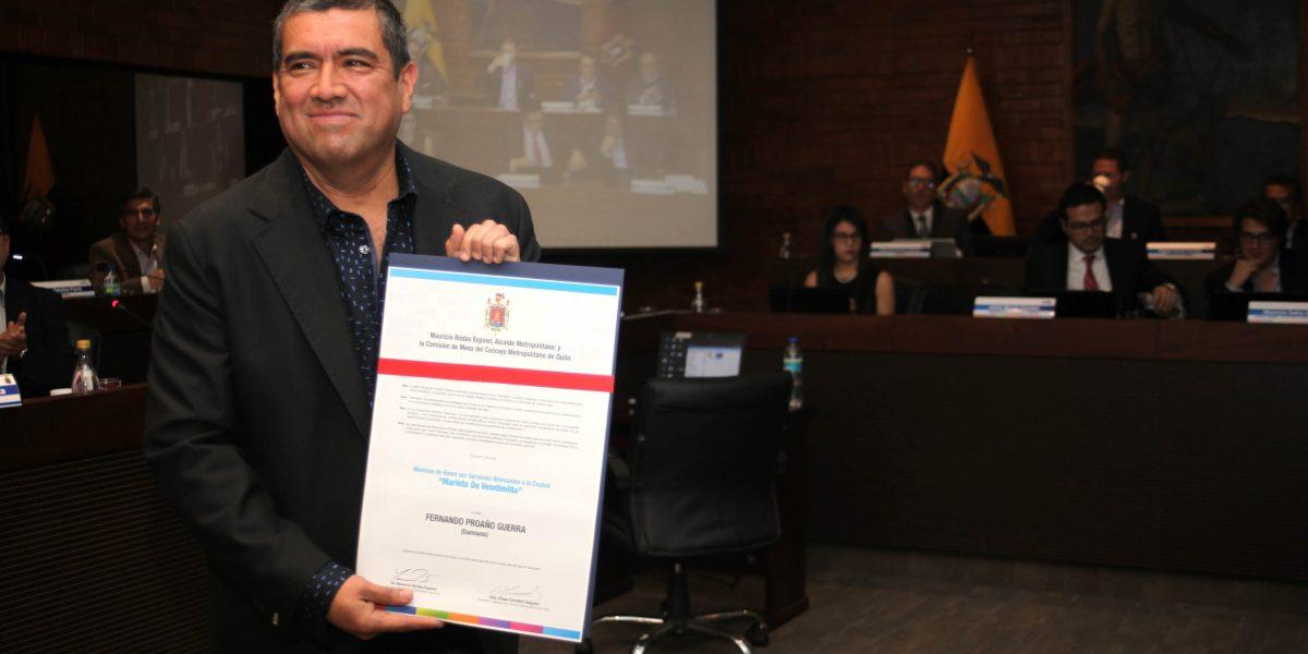 """""""Damiano"""" recibe la Mención de Honor Marieta de Veintimilla"""