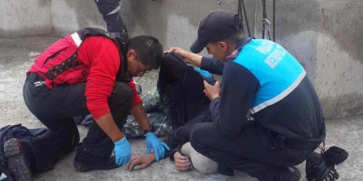 Obrero sufre incidente por cables de alta tensión en Quito