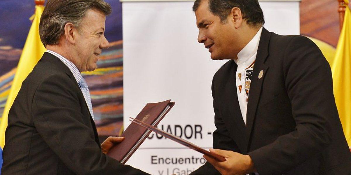 Correa y Santos hablarán en Ecuador de seguridad, frontera y economía
