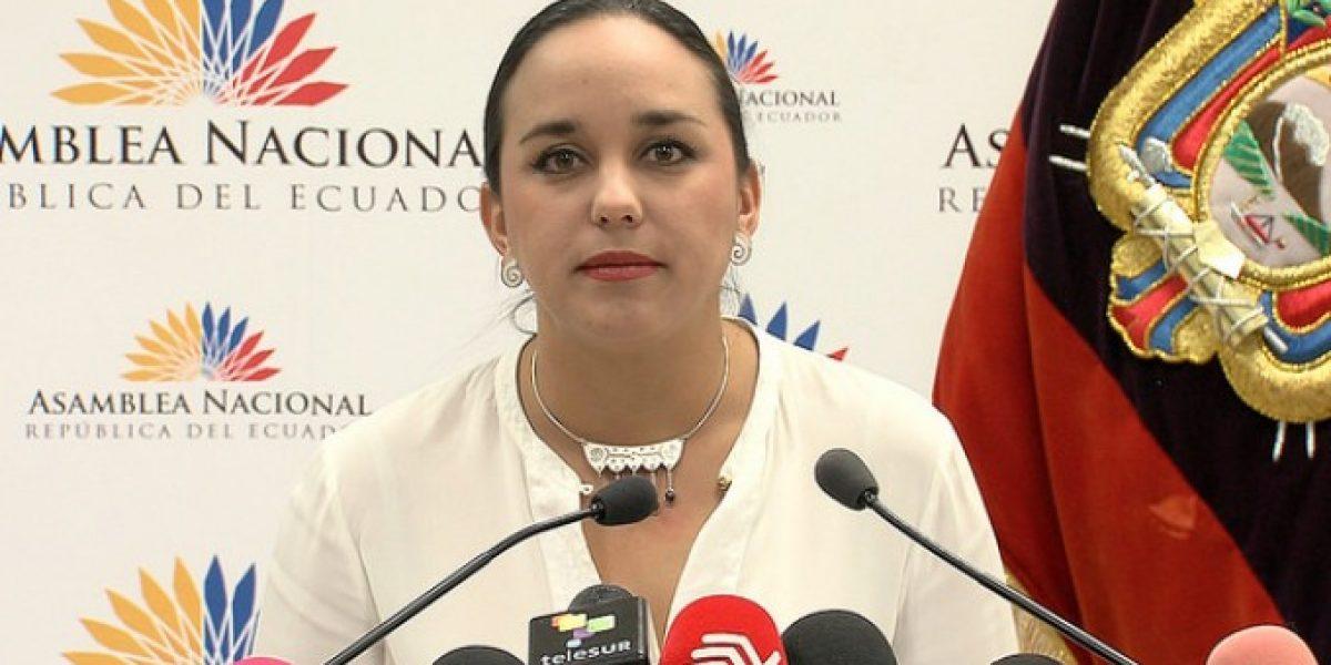 Amenaza de bomba en la oficina de Gabriela Rivadeneira