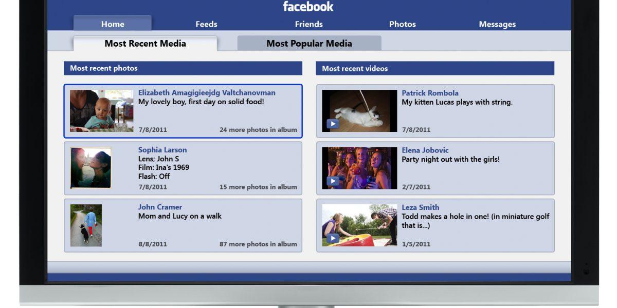 Facebook lanzará una aplicación para ver contenido en televisor