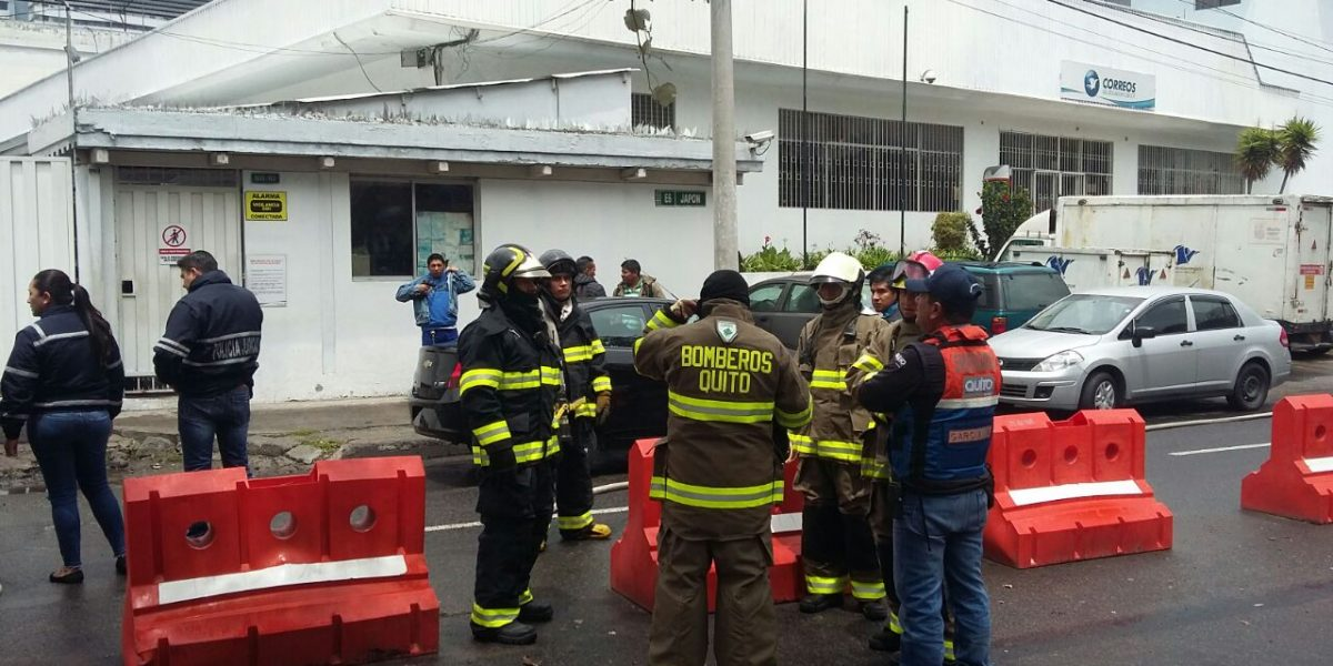 Amenaza de bomba en oficinas de Correos del Ecuador