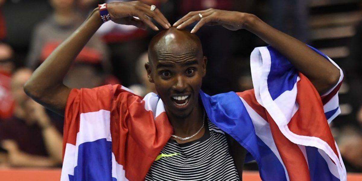Mo Farah bate su propio récord europeo en los 5.000 metros planos