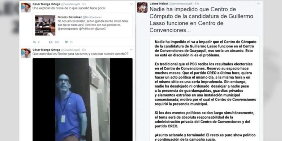 CREO y PSC con roces en día de elecciones
