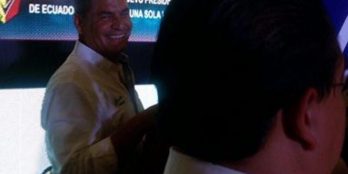 Rafael Correa festeja victoria de su movimiento