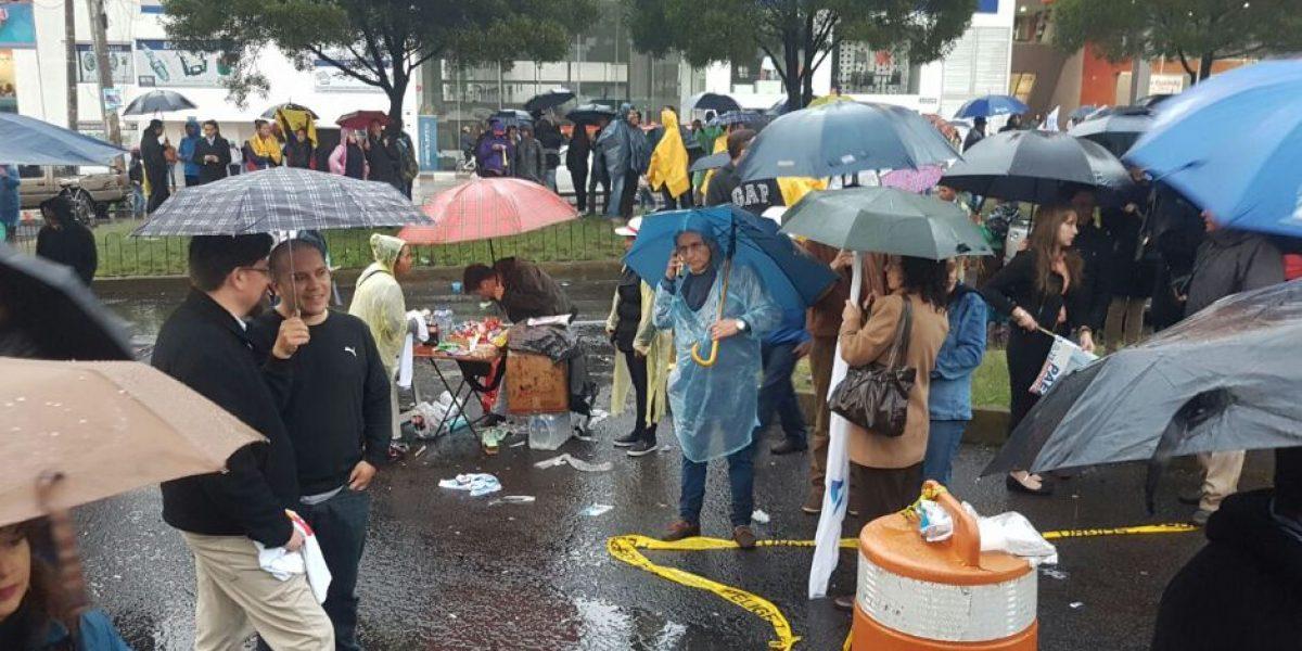 La lluvia favoreció la venta informal en el CNE