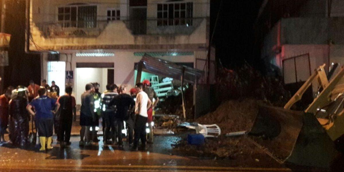 Deslizamiento en Bucay afecto viviendas y dejó cuatro fallecidos