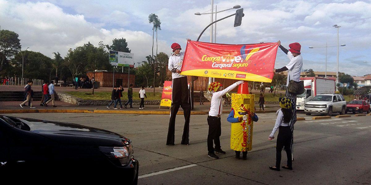 Campaña de seguridad en Cuenca por carnaval