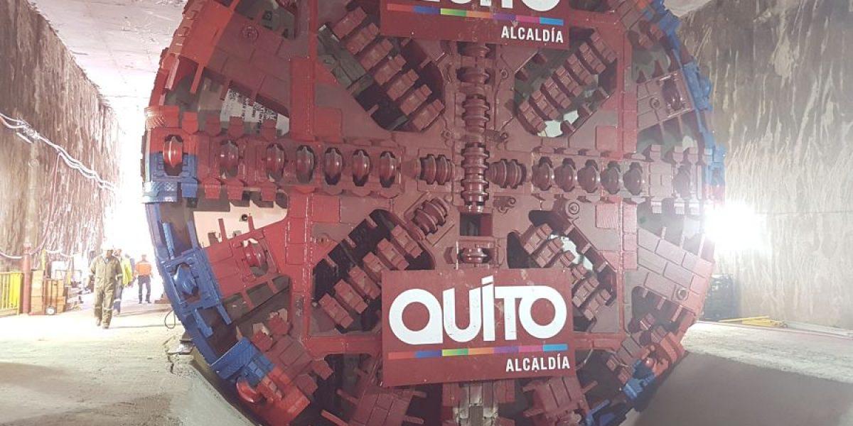 Se inicia la construcción del túnel para Metro de Quito