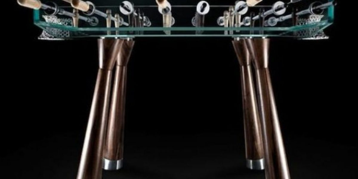 Una mesa de futbolito de lujo