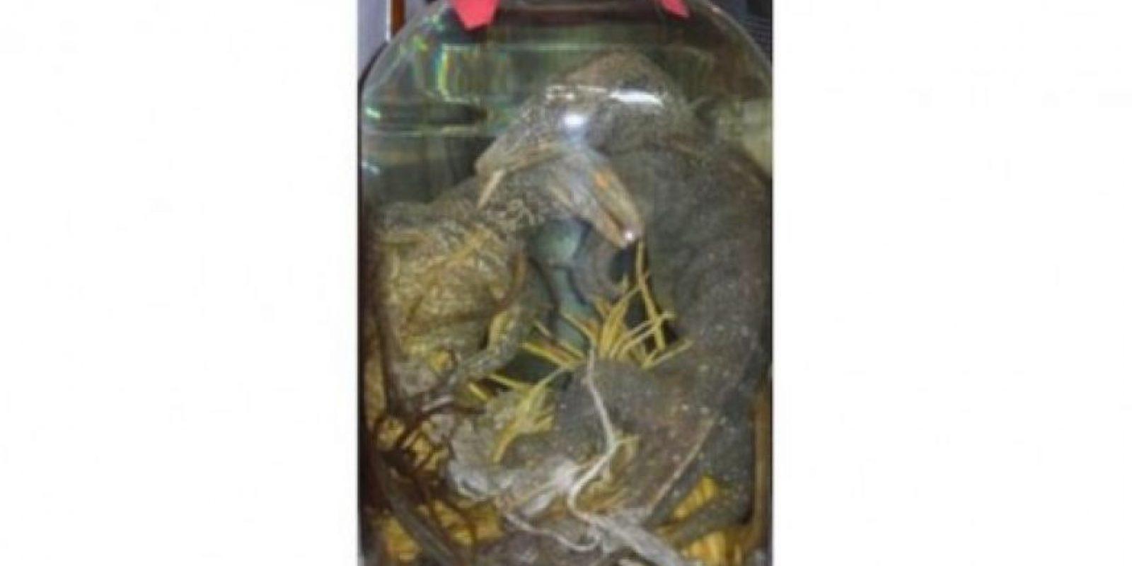 Licor de tres lagartos. Bebido en Asia como un elíxir para darle fuerza y longevidad al cuerpo