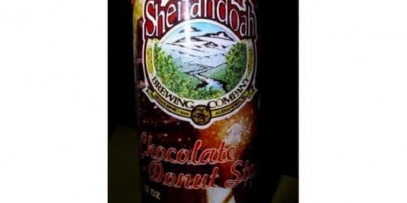 Cerveza dona de chocolate. Elaborada por Shenandoah Brewing Company, usa chocolate de verdad y otros ingredientes deliciosos