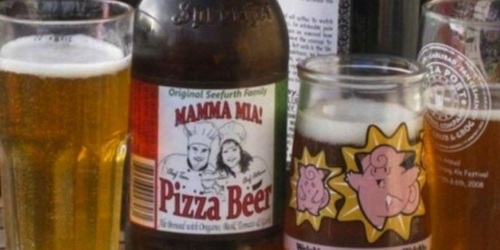 Cerveza de Pizza. La creación de Tom and Anthen Seefurth tiene ajo, centeno, tomate, orégano y una pizca de malta