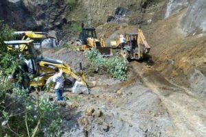 @CBMDEPTAL busca a 7 personas reportadas como soterradas en arenera de aldea El Recuerdo, San Marcos