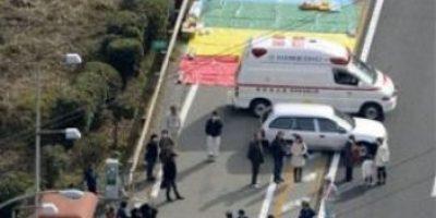 FOTOS: Colapsa túnel en autopista de Japón y atrapa a civiles