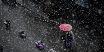 FOTOS. Nieve blanquea a Estocolmo