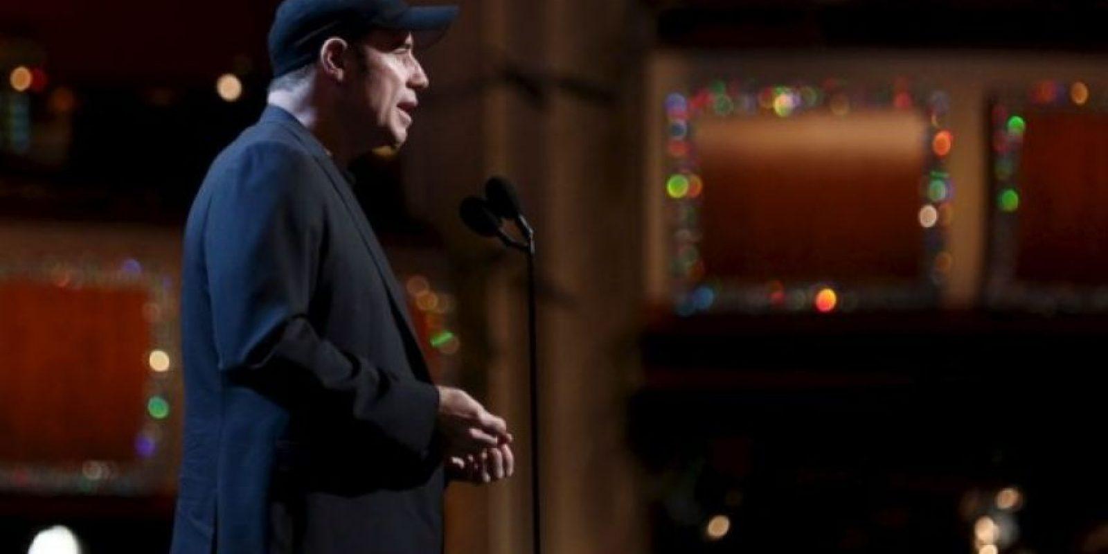 John Travolta en el ensayo de la 85 entrega de los Premios de la Academia