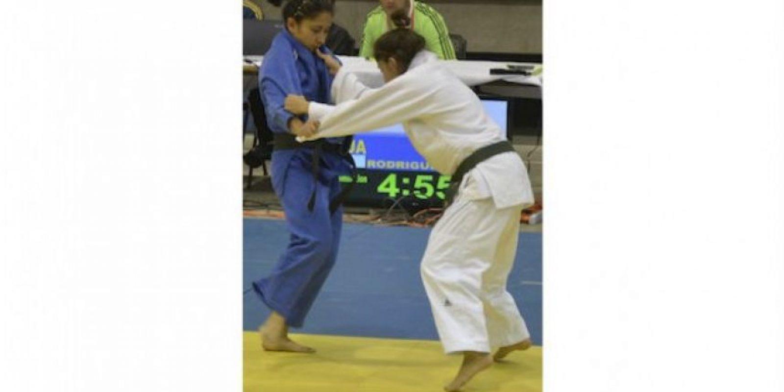 Rodríguez en su combate final contra la tica Marín. Foto:Mynor Arita, enviado especial
