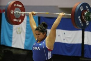 Astrid Camposeco en el gimnasio San Francisco Dos Ríos. Foto:Comité Olímpico