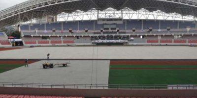 El estadio Nacional tiene oficinas para 32 federaciones deportivas, dos pantallas gigantes de televisión de alta definición, un museo, pista de atletismo y salas para tenis de mesa, esgrima y ajedrez, entre otros. Foto:Mynor Arita, enviado especial