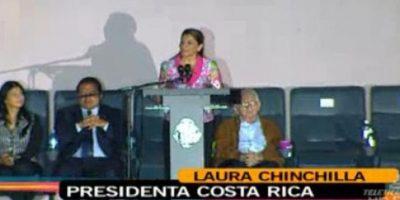 Laura Chinchilla, presidenta de Costa Rica, agradeció a los atletas las hazañas y nuevas marcas durante la décima edición