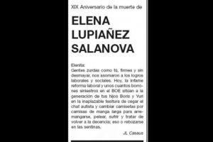 Desde 1994, José Luis Casaus publica una esquela para su difunta pareja en el diario El País en honor a su memoria. (2013)