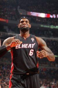 El basquetbolista LeBron James, de 28 años, es la estrella del Heat de Miami