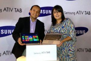 Andrés Orozco Gerente de Ventas IT Samsung Electronics. Andrea Mancilla Gerente de Mercadeo Samsung Electronics