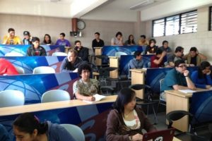 El aula de educación virtual. Foto:Juan José López Torres