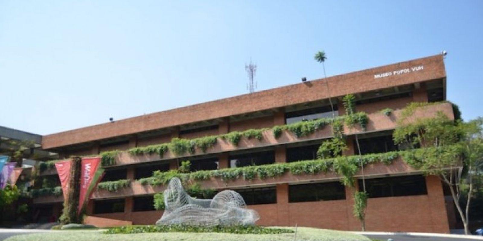 Vista exterior del museo Popol Vuh. Foto:Juan José López Torres