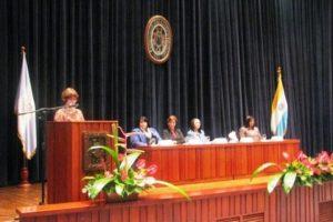 Autoridades de la Facultad de Humanidades de la Universidad Rafael Landívar