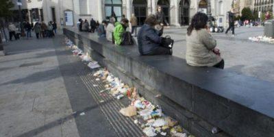 Huelga de barrenderos deja calles de Madrid cubiertas de basura