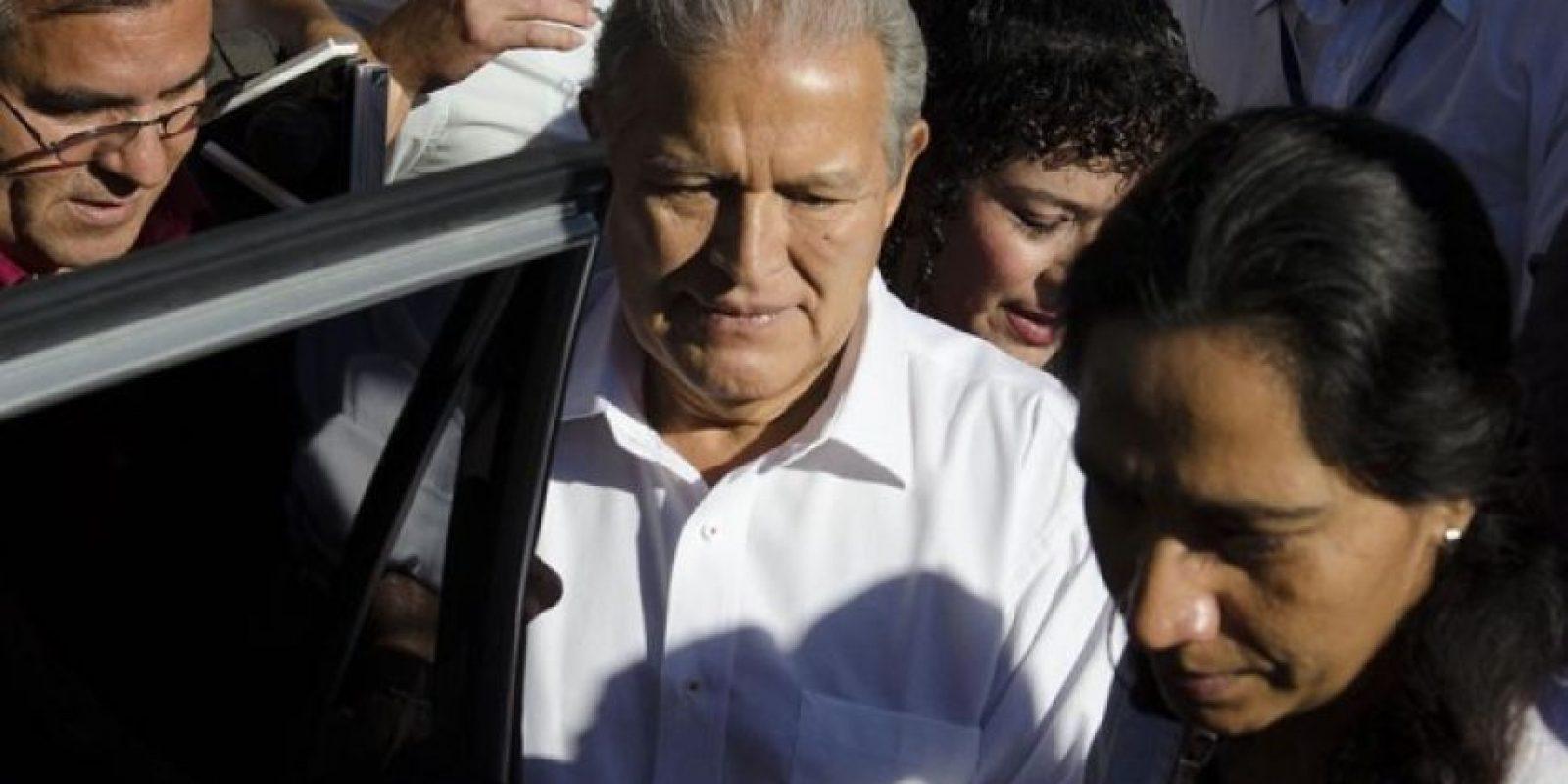 Salvador Sánchez Cerén, candidato presidencial del FMLN. Foto:Juan José López