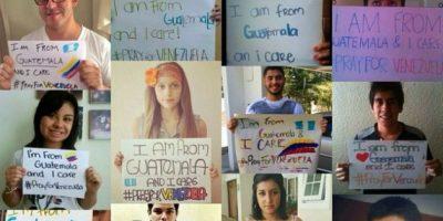 Jóvenes chapines abogan por paz en Venezuela