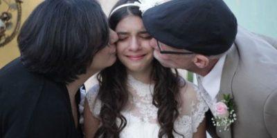 Niña recreó su boda para que su papá, enfermo de cáncer, la llevara al altar