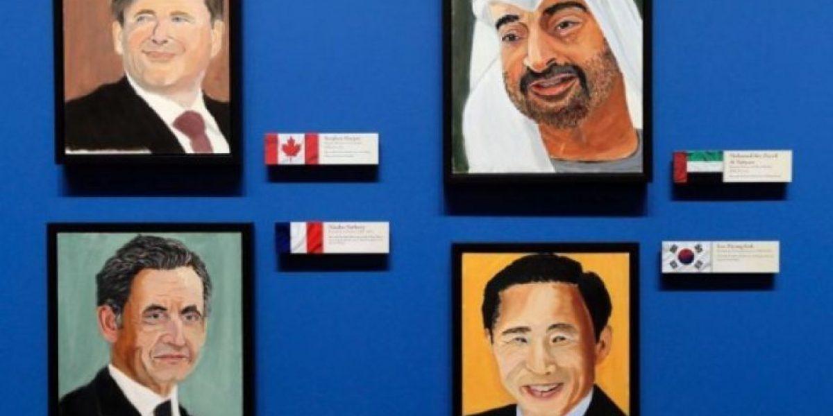 El pintor George W. Bush, retratista de los líderes mundiales